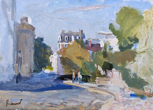 A Street in Montmartre by SAMIR RAKHMANOV