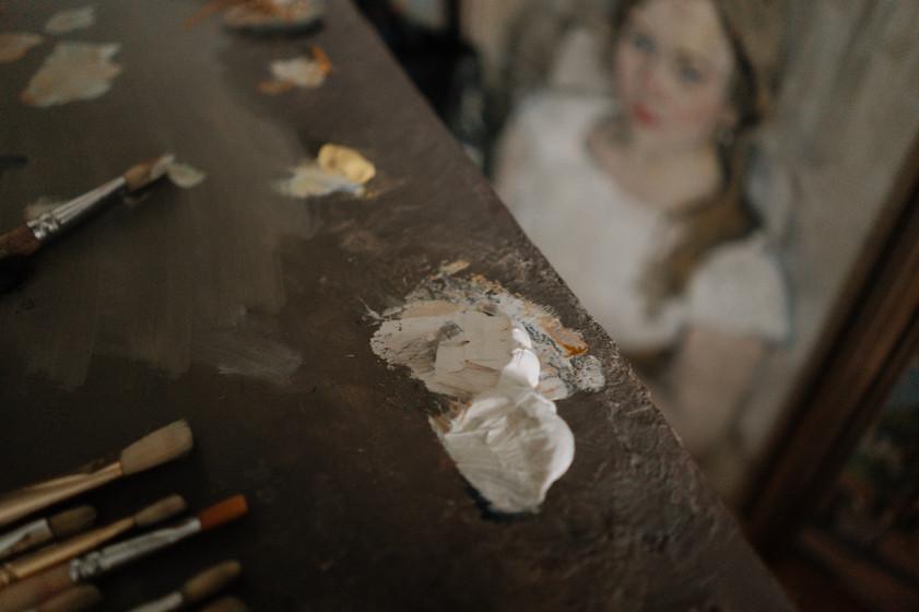 Ilya Zorkin in the Studio for The Russian Ark Gallery