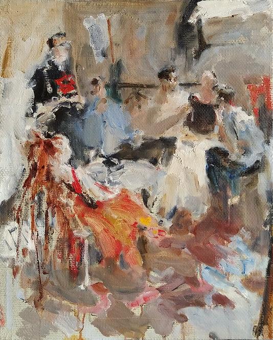 "Study for Graduation Composition ""Friends"" No.1 by YURIY USHAKOV"