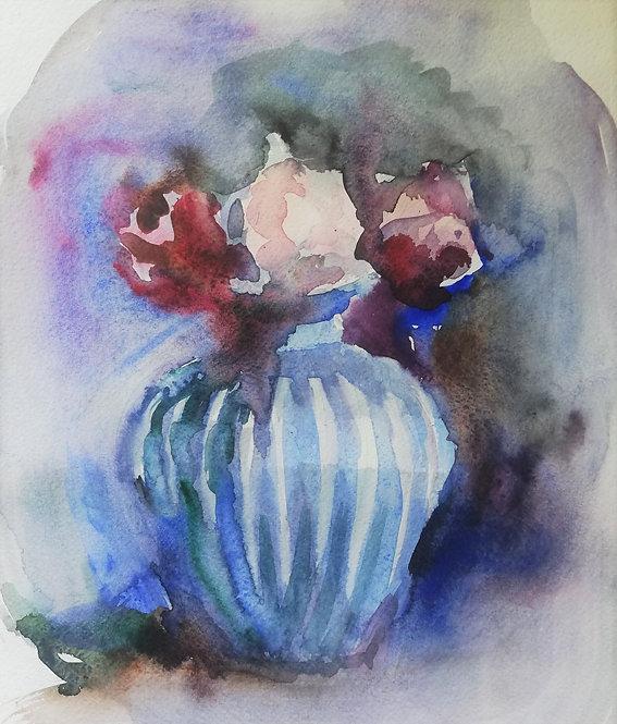 Trio of Roses by YAROSLAVA TICHSHENKO