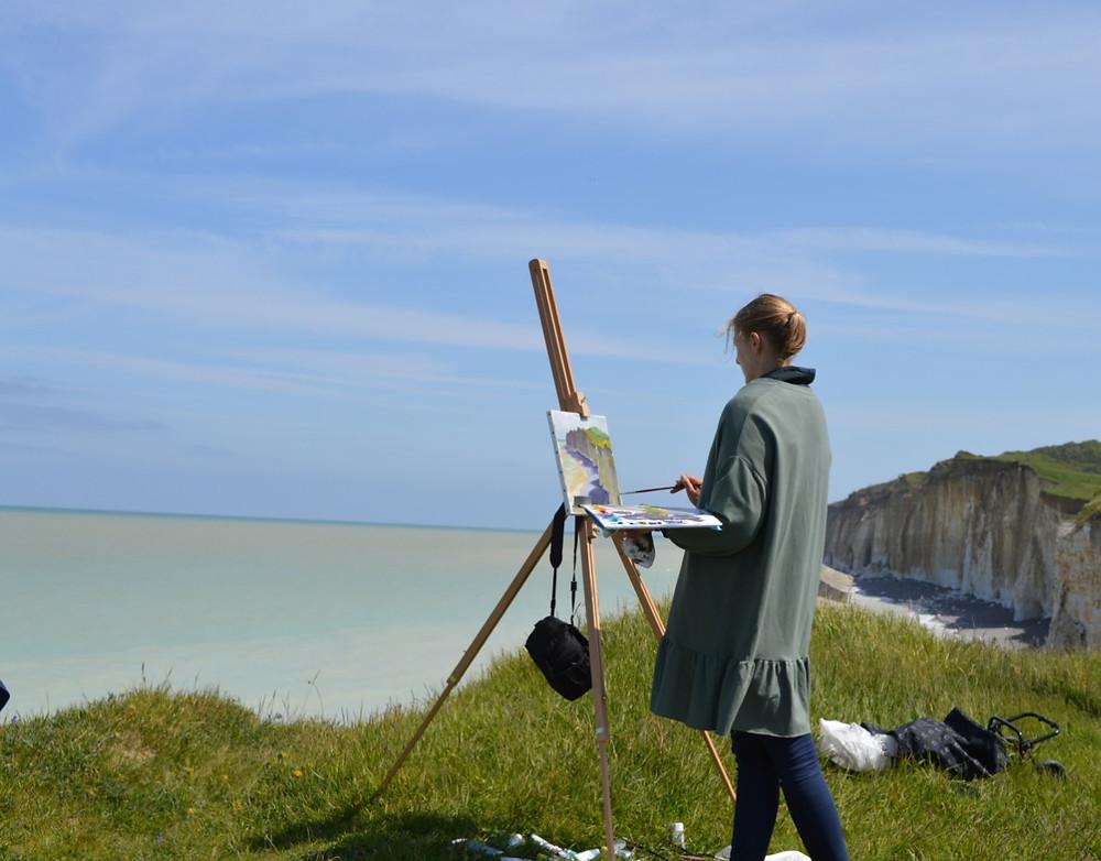 Marie Pol Normandie Oil painting
