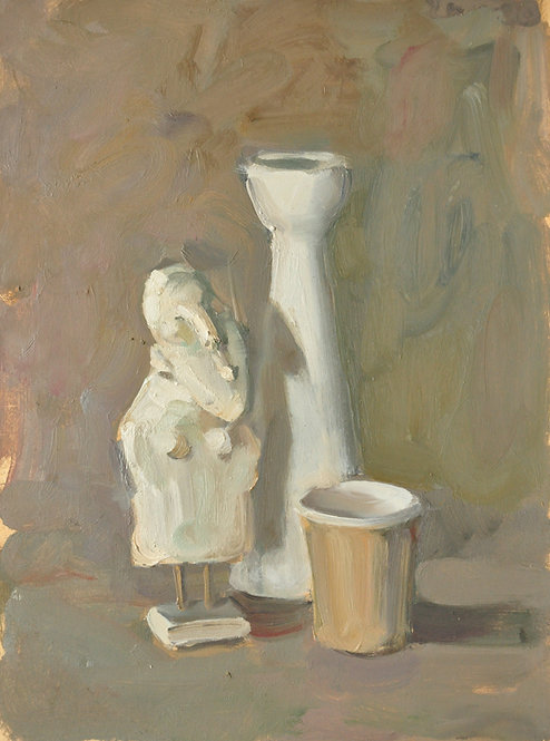 Still Life With a Statuette of Papier-Mache by YAROSLAVA TICHSHENKO