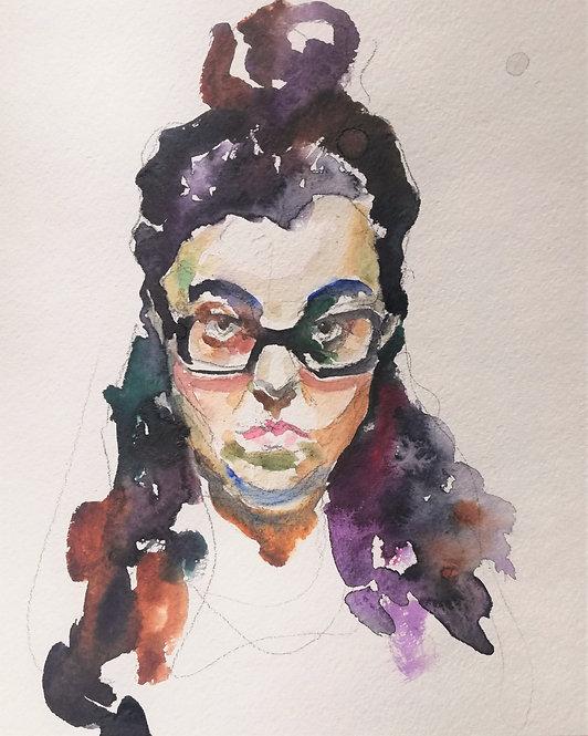 Quarantine Self-Portrait No.2 by YAROSLAVA TICHSHENKO