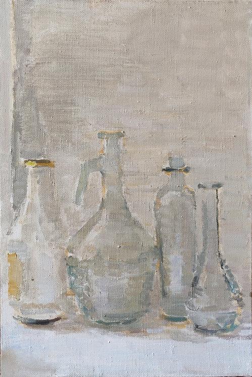 Still Life with Glass Vessels by SAMIR RAKHMANOV