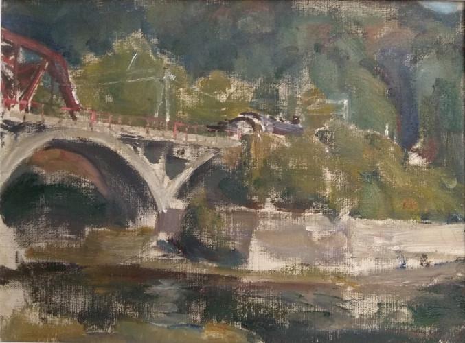 The Russian Ark Yuriy Ushakov Landscape with a bridge