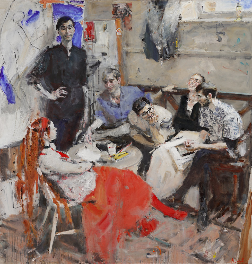 Yuriy Ushakov Friends Diploma Painting Russian Ark Gallery Oil Painting Repin Art Academy