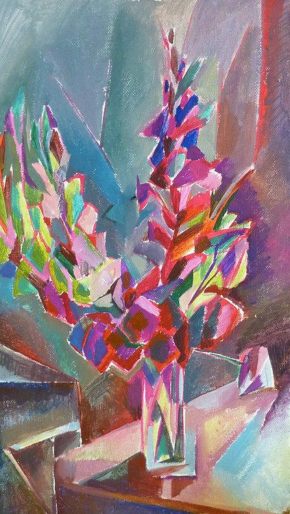 Purple Flowers by NIKOL KLAMPERT