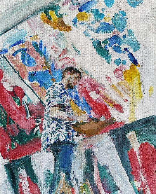 Sergey. Sketch by YURIY USHAKOV