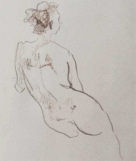 Nude Sketch No.2 by YAROSLAVA TICHSHENKO