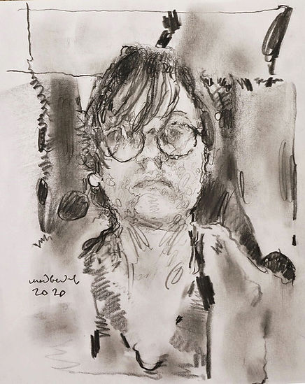 Graphite self portrait-2020-graphite-pap