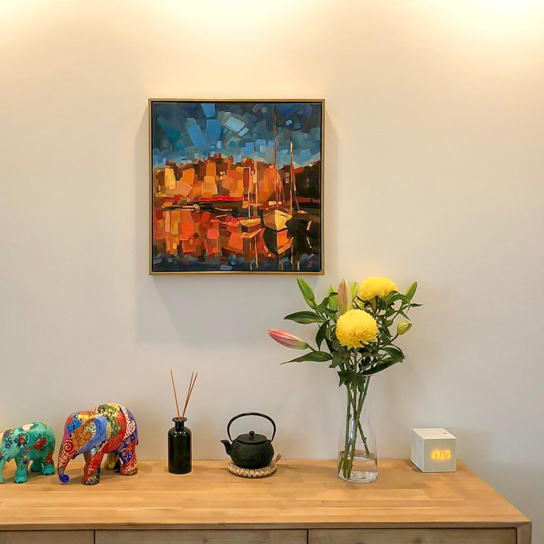 Marie Pol Honfleur memory oil painting Singapore Artist