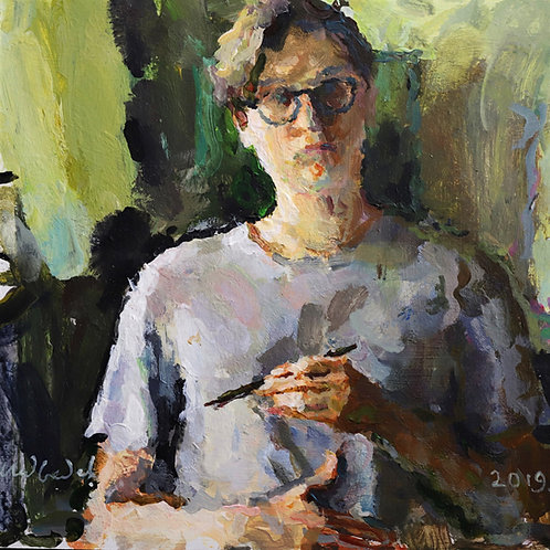 Self Portrait With a Brush by EUGENY MEDVEDEV
