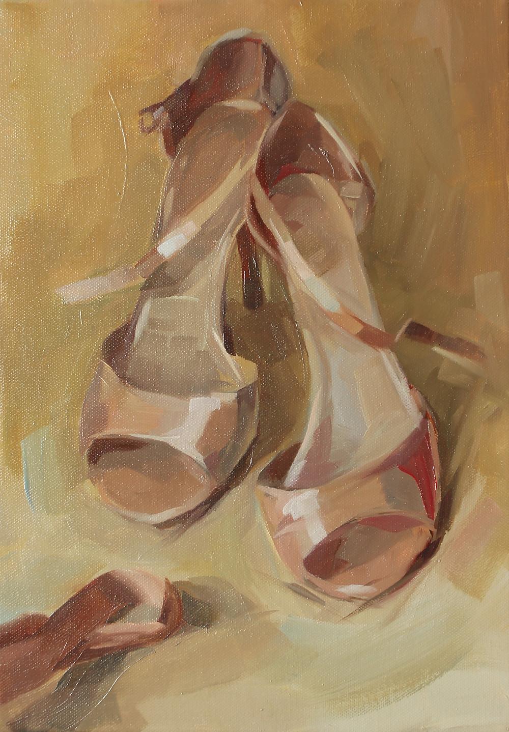 """Marie Pol"" oil painting tango shoes original art contemporary"