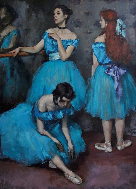 Ballerinas in Blue Tutus by ANDREW PIANKOVSKI