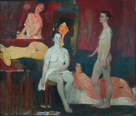 Nudes After Modigliani by YURIY USHAKOV