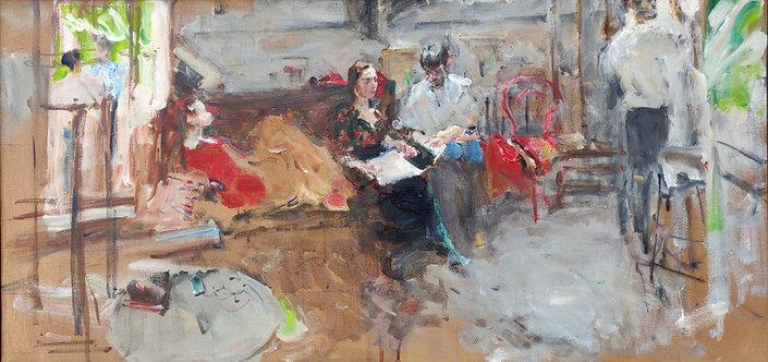 """Study """"In the Studio"""" No.2 by YURIY USHAKOV"""