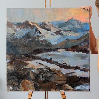 Marie Pol Mountain Elbrus painting