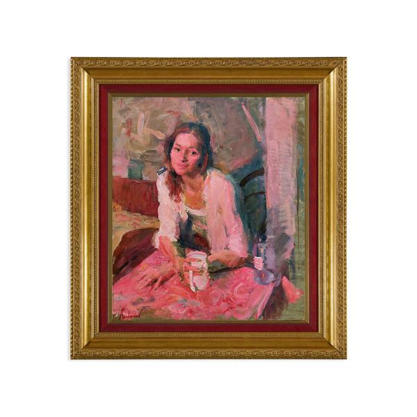 """Samir Rakhmanov, """"Portrait of Galina Under a Red Light"""""""