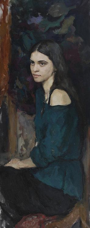 Inna on Deep Green Background by ANDREW PIANKOVSKI