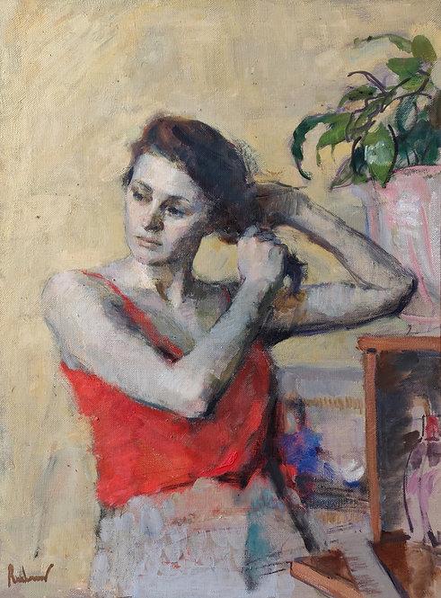 Woman Combing Her Hair by SAMIR RAKHMANOV