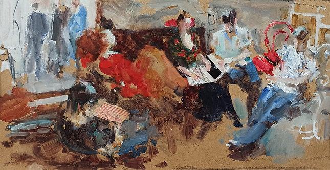 Sketch in the Studio by YURIY USHAKOV