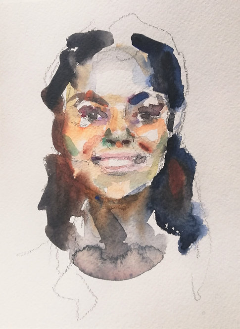 Quarantine Self-Portrait No.1 by YAROSLAVA TICHSHENKO