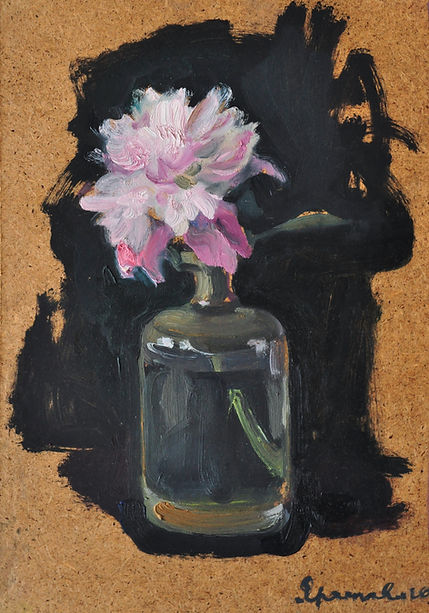 $300 Peony, oil on plywood 24on34.5 2020