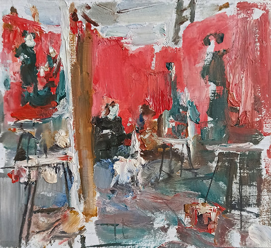 Red Composition by YURIY USHAKOV