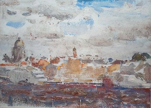 View of the English Embankment by YURIY USHAKOV