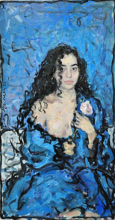 Girl With a Rose by YAROSLAVA TICHSHENKO