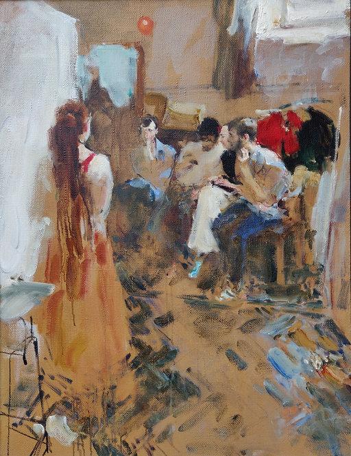 """Study """"In the Studio"""" No.1 by YURIY USHAKOV"""