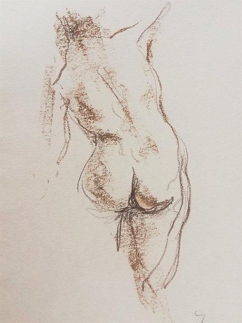 Nude Sketch No.1 by YAROSLAVA TICHSHENKO