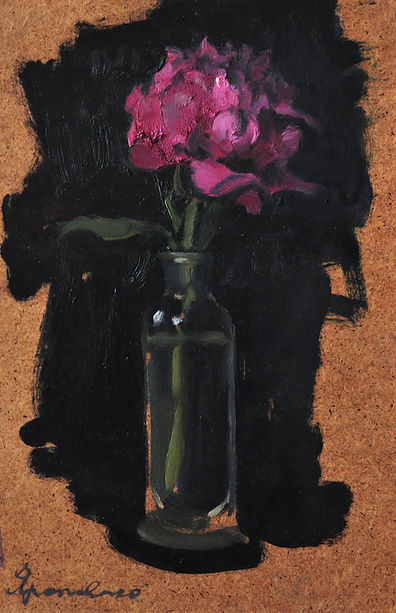 $300 Rosy peony , 23on 34.5 oil on plywo