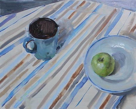 Still Life With an Apple by VALERIA PRIVALIKHINA