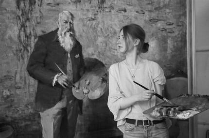 The Russian Ark Art Gallery Best Beautiful Figurative Art from Professional Artists Valeria Privalikhina Claude Monet Palette