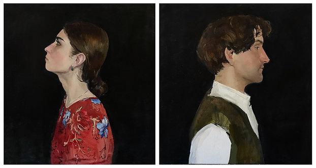 Two (diptych) by LIZA SIVAKOVA