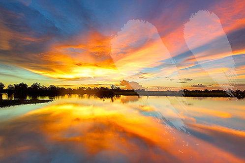 Yellow Water Sunset - Kakadu National Park