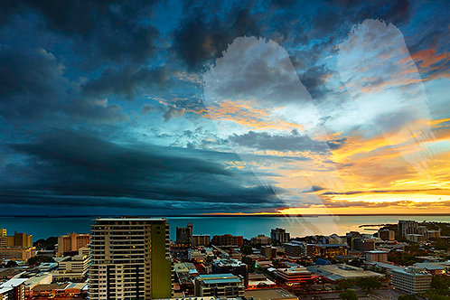 Dark Skies over Darwin City
