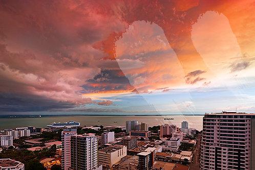Sunset over Darwin City