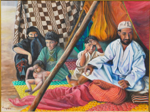 Bedouin Family 48x52