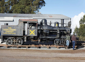 Last engine of 'Crookedest Railroad in the World' coming back to the mountain