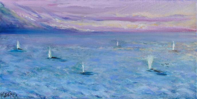 Whales of Esalen 12x24