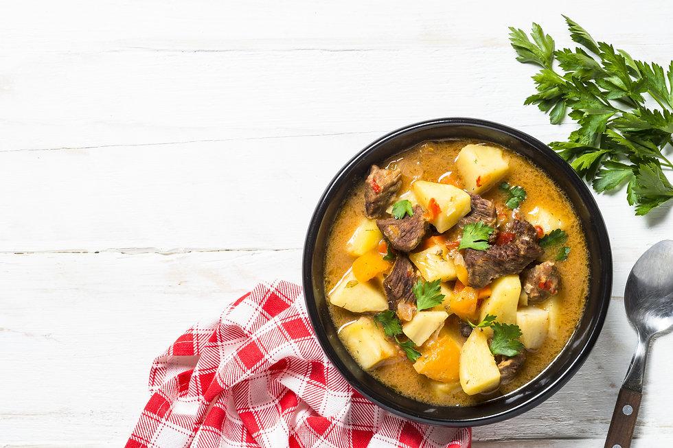 Delicious Stew prepared in the All Season Solar Cooker