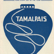 The cover of a 1903 brochure shows the early logo of the scenic railway, which seems to graphically say: Tamalpais is tops.