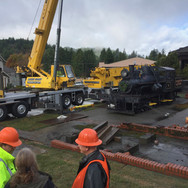 November 2018 - After 65 years, No. 9 is about to be moved from its stand in Scotia, California.
