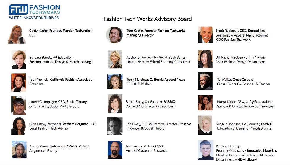 Fashion Tech Works advisory board