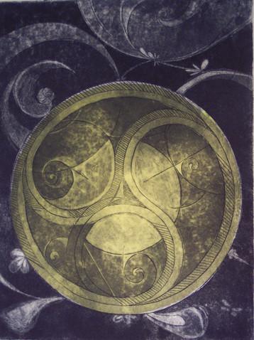 Aquatint Celtic 12x15
