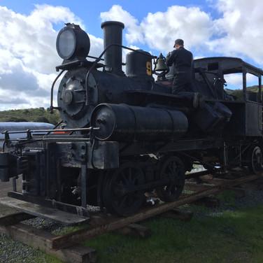 2019 - Friends of No. 9 board member David Waterman works on the locomotive.