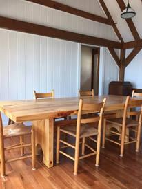 reclaimed pine modern farmhouse table 6-