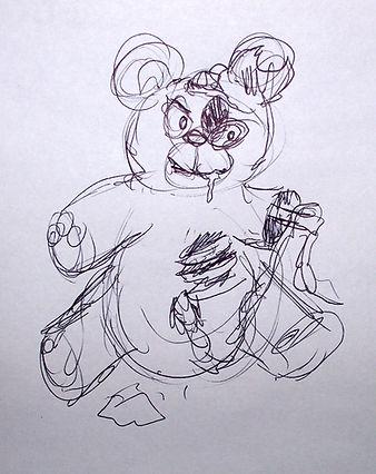 Zombie Teddy (concept sketch)